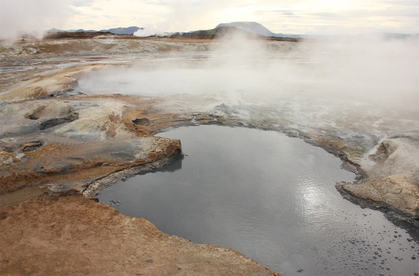 Mud pools at Hverir, North Iceland