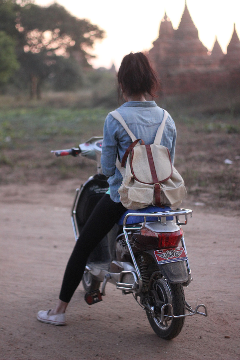 E-biking in Bagan, Myanmar