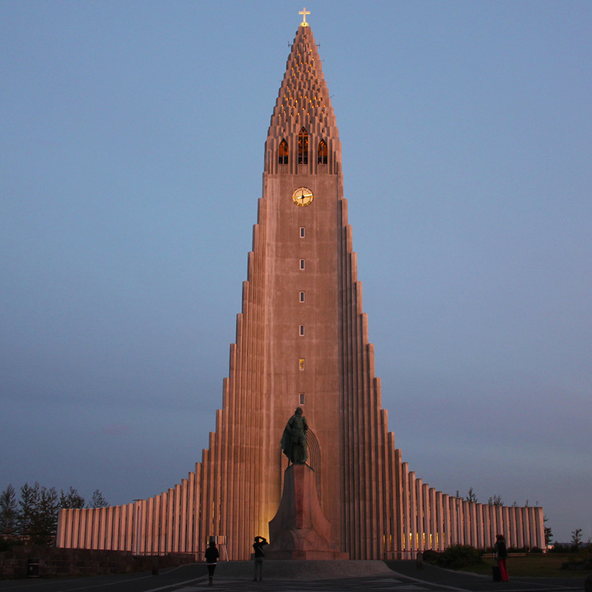 Hallgrimskirkja Church in Reykjavik - travel itinerary