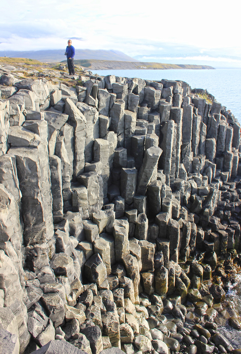 Basalt columns in Hofsos North Iceland - road trip travel itinerary