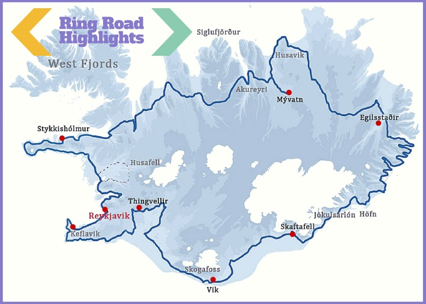 An Epic Iceland Road Trip Travel Itinerary and Tips – Iceland Travel Map