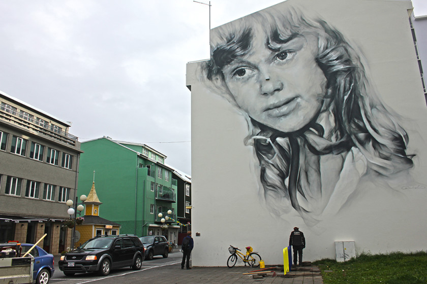 Street art in Akureyri, North Iceland