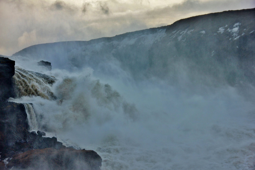 Gullfoss water in Iceland - see my travel itinerary for more inspiration on things to see in Reykjavik