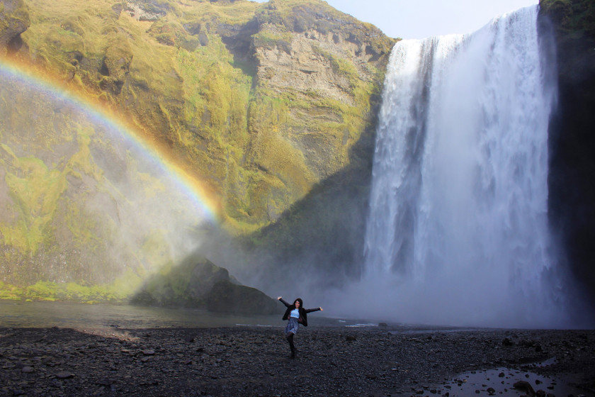 Don't forget to visit Skogafoss waterfall