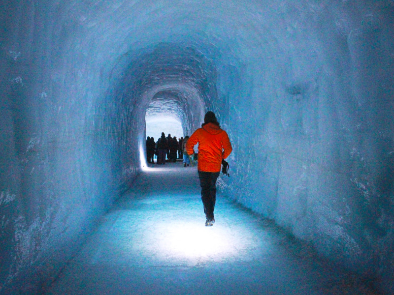 Into the glacier - Iceland's longest man-made cave