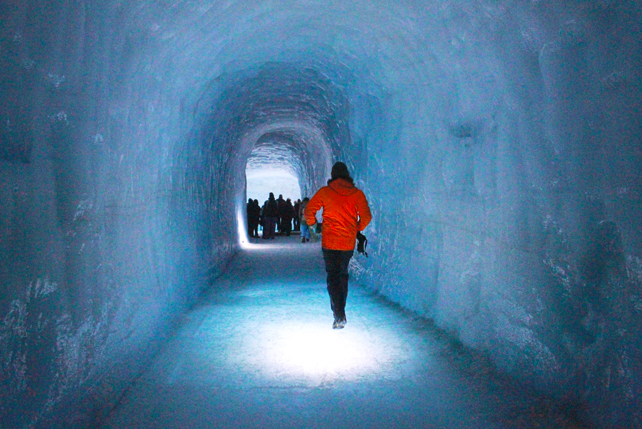 Into The Glacier Inside The World S Largest Man Made Ice