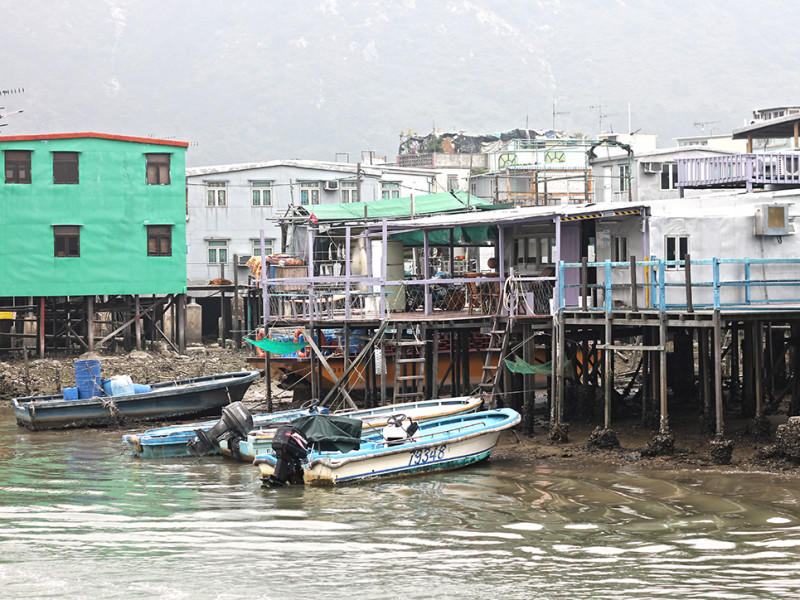 Stilt houses in the village of Tai O, Hong Kong
