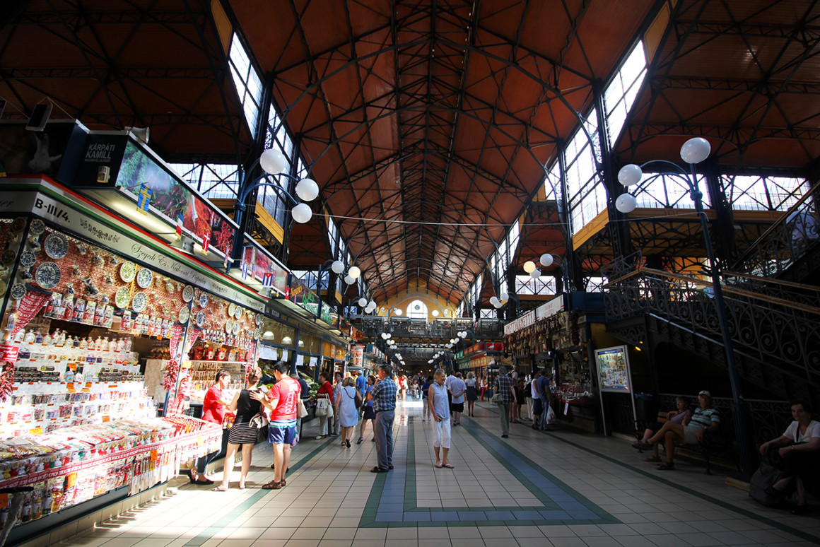 Get food at the Great Market Hall in Budapest
