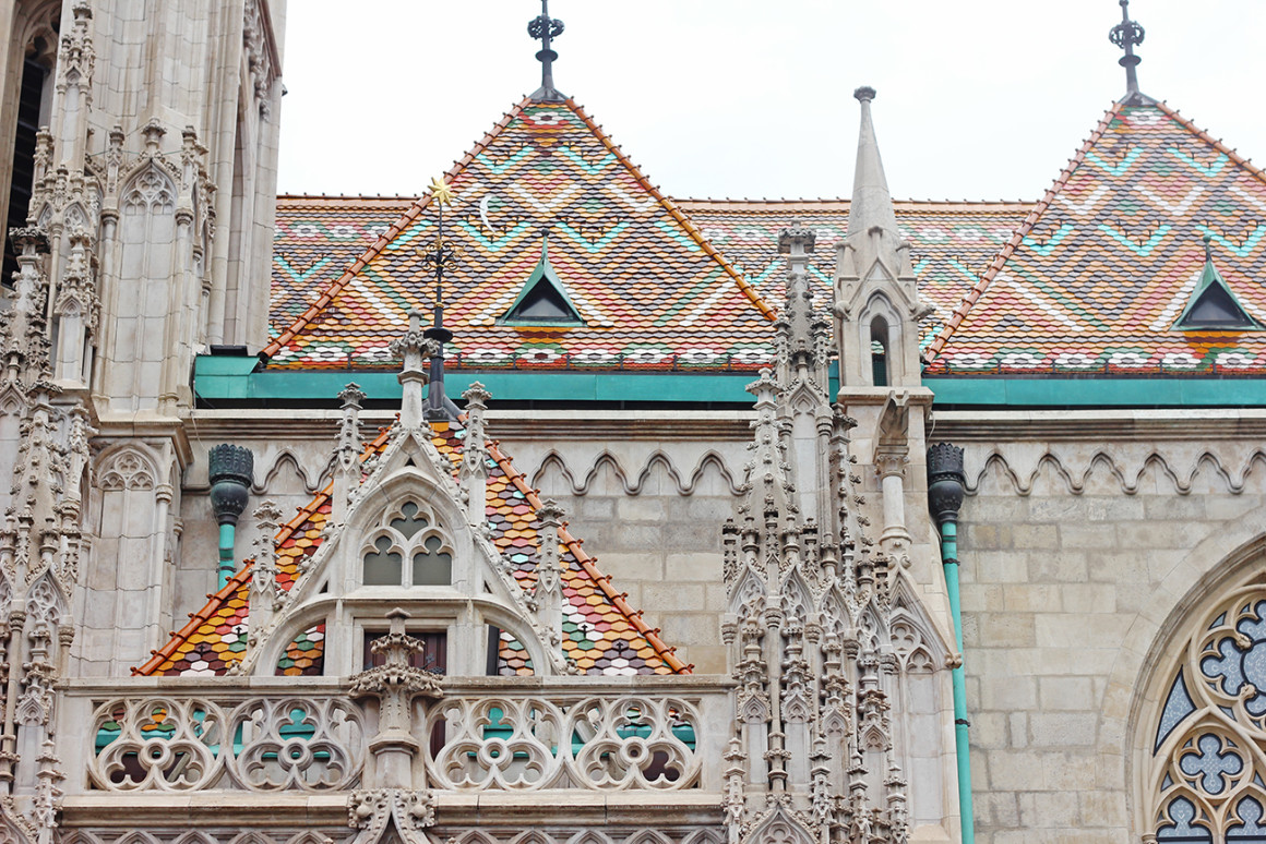 The ornate exterior of Matthias Church - beautiful buildings in Budapest