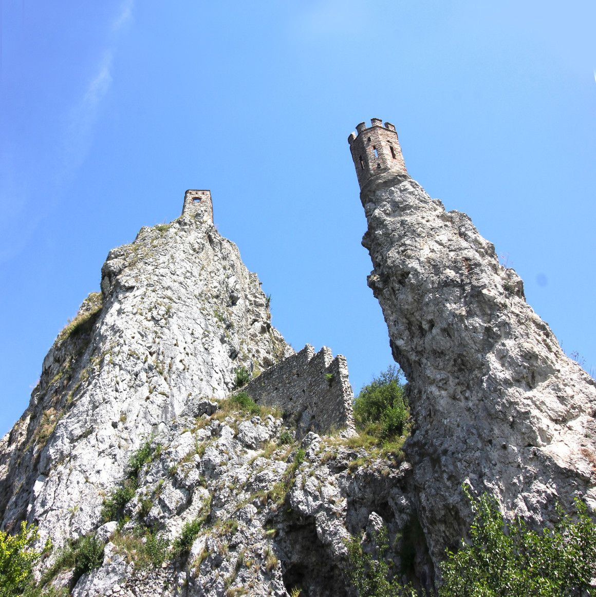The ruins of Devin Castle near Bratislava - getting the train from Budapest - Bratislava - vienna.