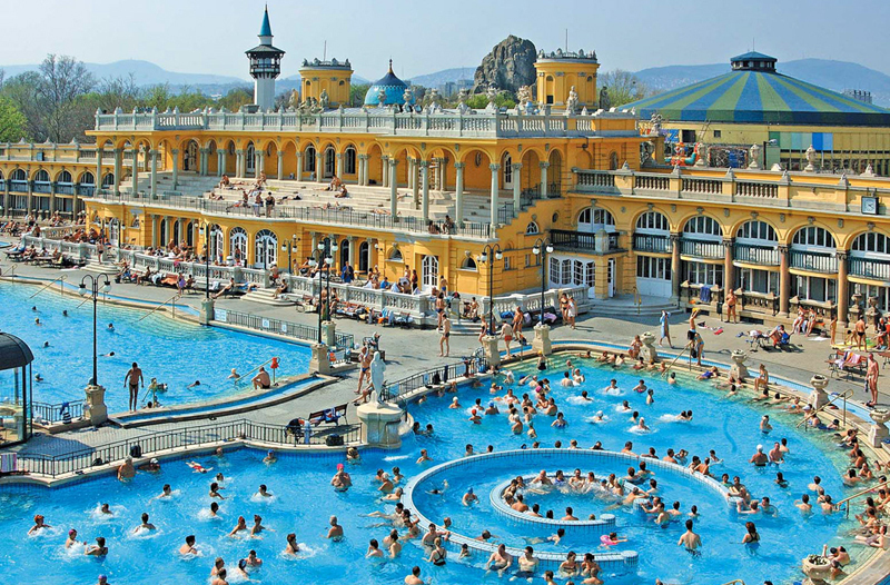 Szechenyi baths - most beautiful buildings in Budapest