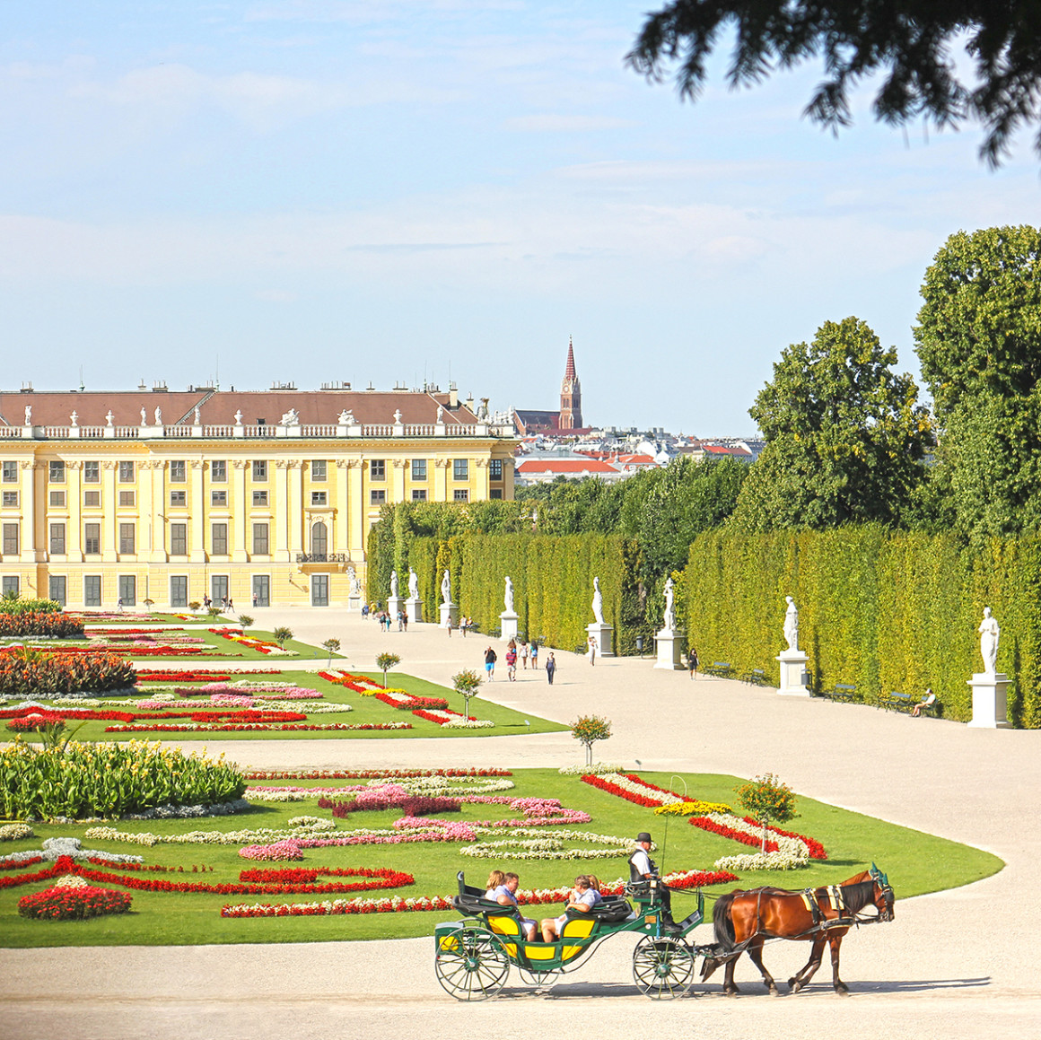 Schonbrunn Palace in Vienna. A blog about getting the train from Budapest - Bratislava - Vienna.