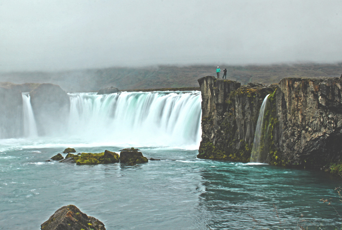 Attractions in North Iceland - Godafoss, also known as Waterfall of the Gods
