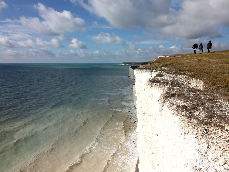 The White Cliffs of Beachy Head and the Seven Sisters.
