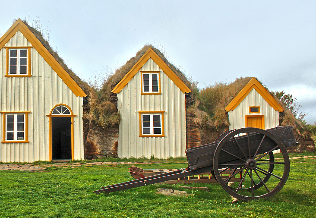 Turf roof houses at Glaumbaer, North Iceland