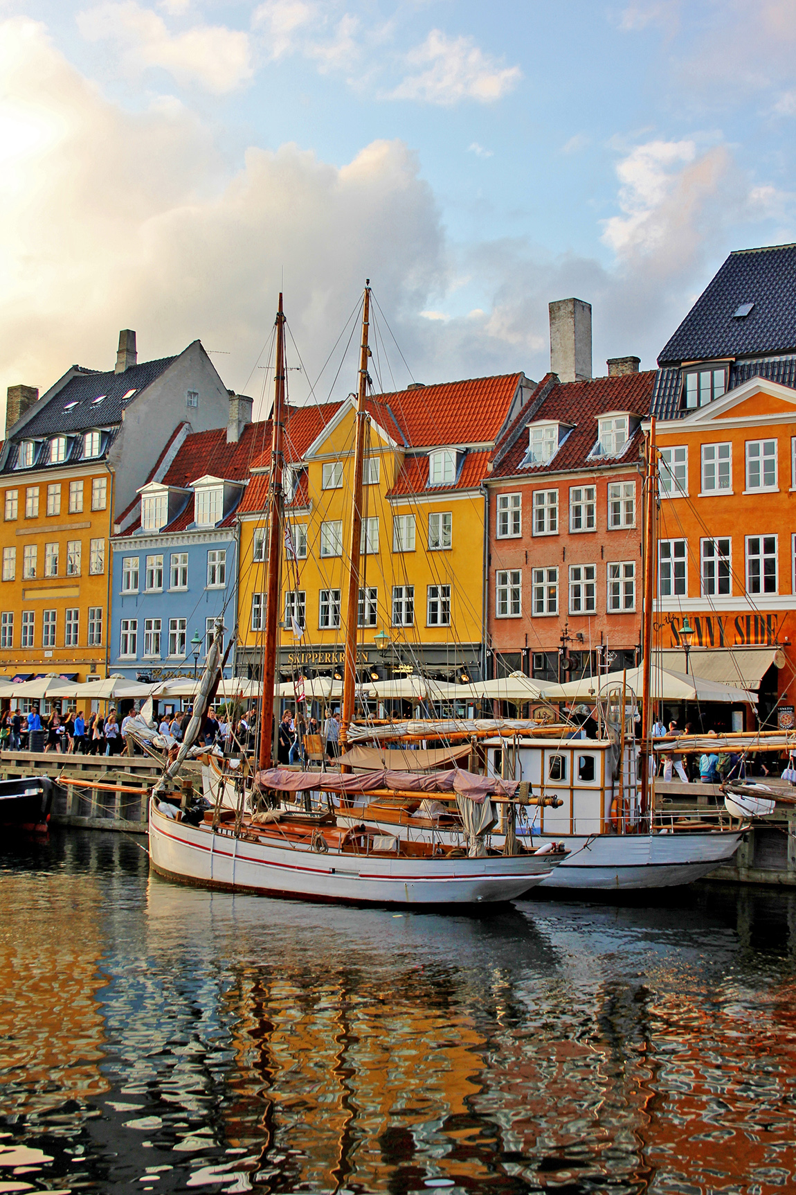The beautiful and colourful city of Copenhagen