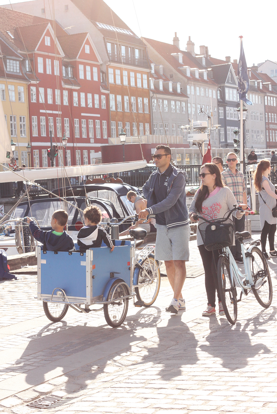 Renting a family bike in Copenhagen