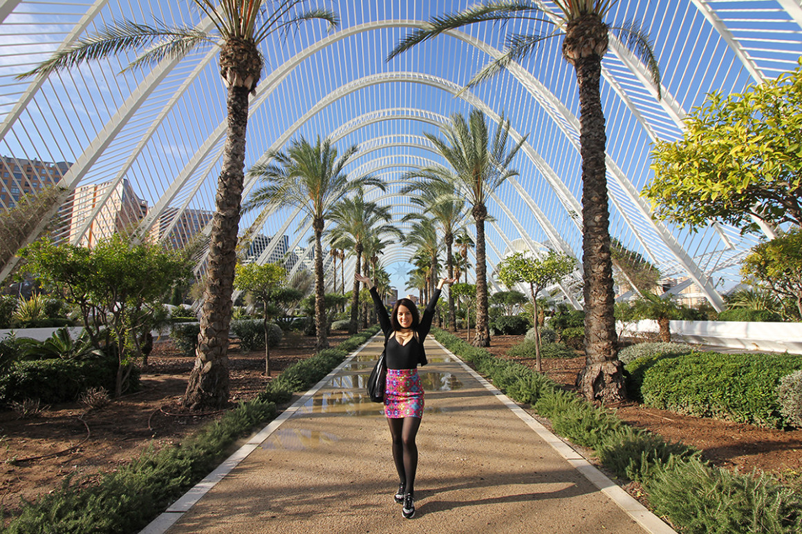 L'Umbracle garden in Valencia inside the City of Arts and Sciences