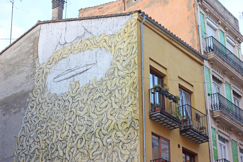 Street art in Valencia by BLU
