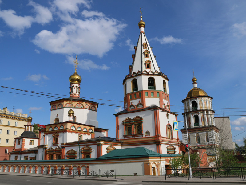 Beautiful architecture in Irkutsk