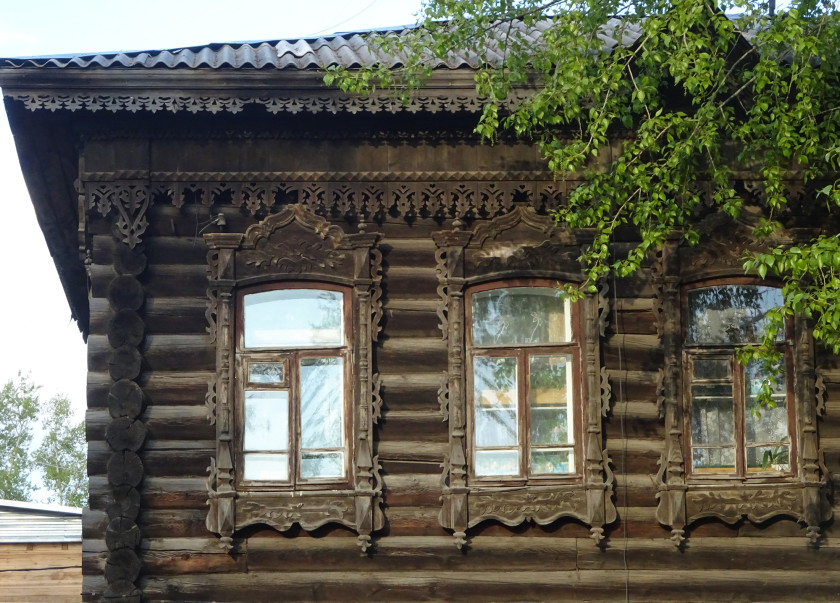 A traditional Siberian house in Irkutsk