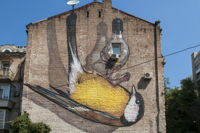 Street art in Kiev - where to find them.