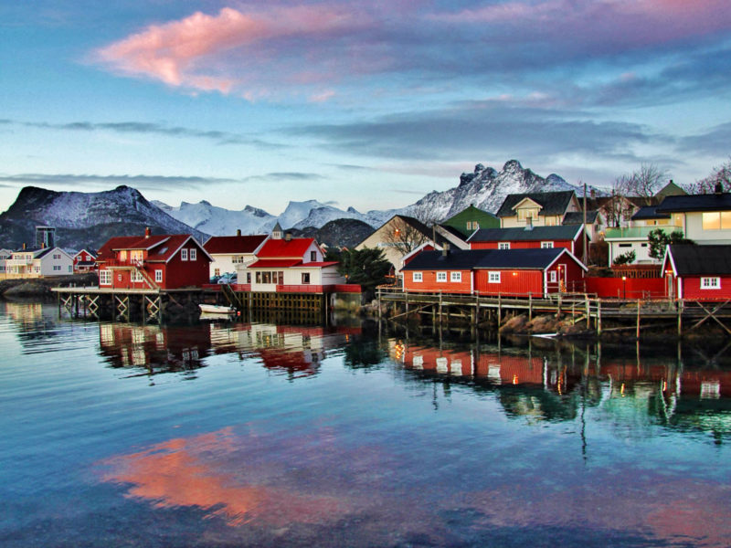 Svinoya Rorbuer (fisherman's cabins) in the Svolvaer the Lofoten Islands