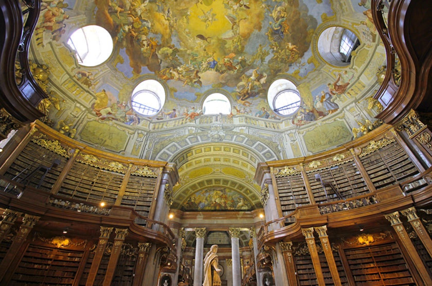 State Hall inside the National Library of Vienna