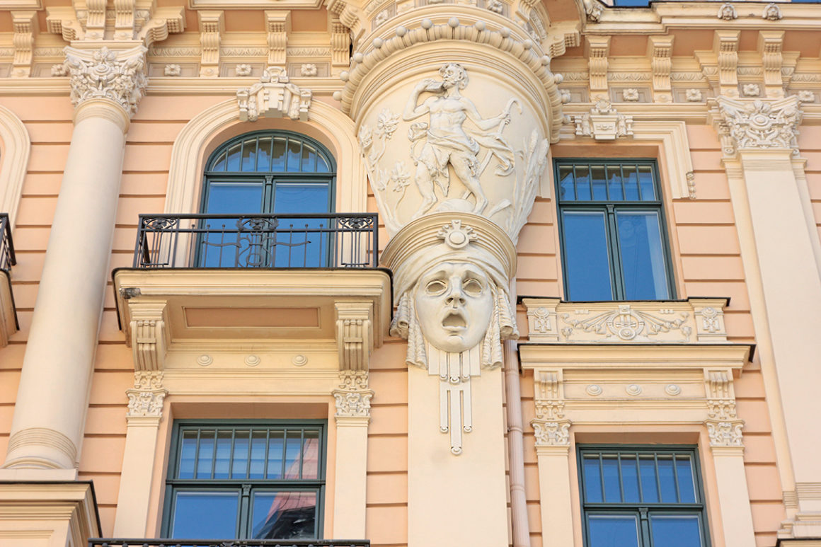 Art Nouveau buildings at Alberta Street in Riga